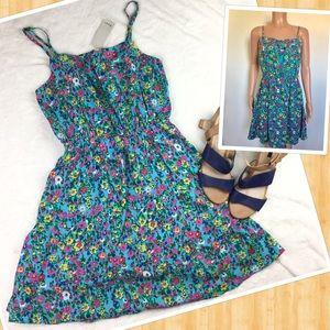 🎉HP🎉 NWT Poet Blue Floral Spaghetti Strap Dress